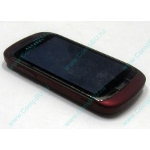 Красно-розовый телефон Alcatel One Touch 818 (Дубна)