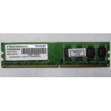 Модуль оперативной памяти 4Gb DDR2 Patriot PSD24G8002 pc-6400 (800MHz)  (Дубна)